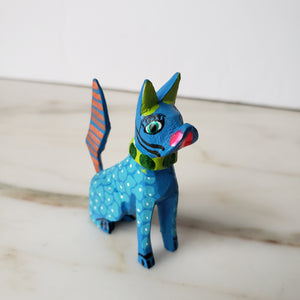 Oaxacan Little Dog Alebrije Hand-Carved Mexican