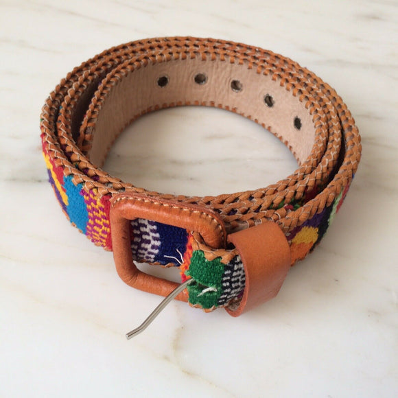 Belts - Embroidered Leather Belts - The Little Pueblo