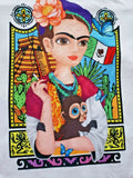 Frida Kahlo Graphic Tee Floral Mexican Flag T-Shirt - The Little Pueblo