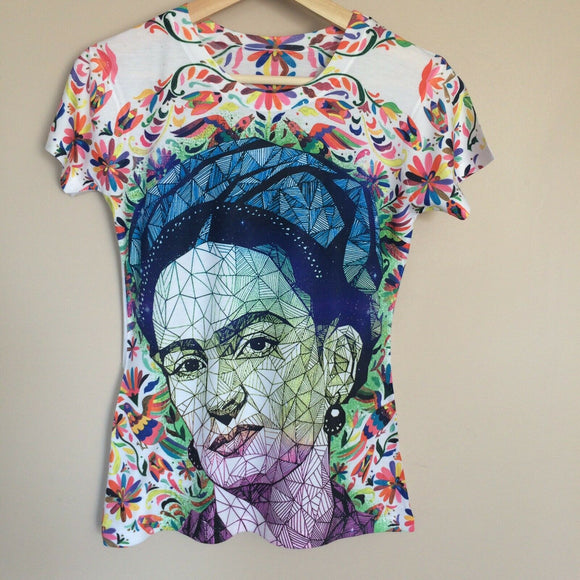 50% OFF SALE Frida Kahlo  Floral T-Shirt - The Little Pueblo