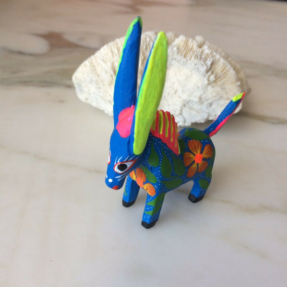 Mexican Donkey Alebrije Oaxacan Wood Carving - The Little Pueblo