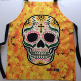 Sugar Skull Cooking  Apron Mexican Art With 2 Pockets - The Little Pueblo