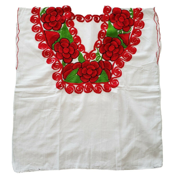 Traditional Embroidered Hippie Mexican Floral Top - The Little Pueblo