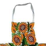 Embroidered Sunflower Apron With Pockets
