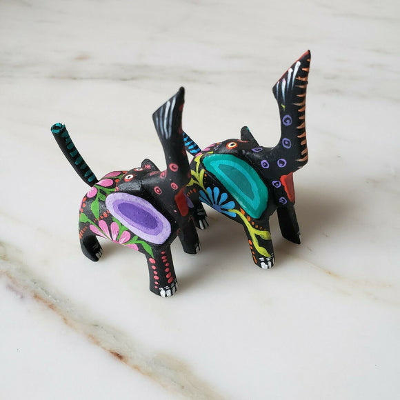 Mini Elephant Oaxacan Alebrije Wood Carving Mexican - The Little Pueblo