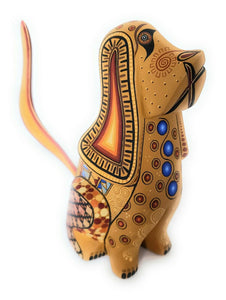 Dog Alebrije Wood Carving Folk Art Oaxaca Mexico - The Little Pueblo