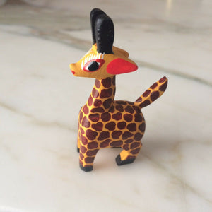 Oaxacan Alebrije Giraffe Mini Wood Carving Mexican - The Little Pueblo