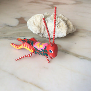Grasshopper Alebrije Oaxaca Wood carving - The Little Pueblo