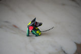 Oaxacan Alebrije Coyote Mini Wood Carving Mexican Hand Painted - The Little Pueblo