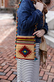 Mexican Shoulder Bag Zapotec Woven Wool  Purse Oaxaca Handmade - The Little Pueblo
