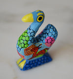 Blue Duck Mini Oaxacan Alebrije Wood Carving Mexican Hand Painted - The Little Pueblo
