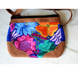 Mexican Embroidered Floral Purse Shoulder Crossbody - The Little Pueblo