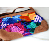 Bag - Mexican Embroidered Floral Purse Shoulder Crossbody - The Little Pueblo
