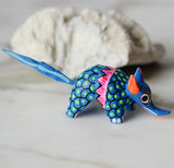 Oaxacan Alebrije Armadillo Mini Wood Carved Mexican Hand Carved&Painted - The Little Pueblo