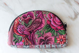 Needlepoint Cosmetic Bag with Bird & Floral Motif - The Little Pueblo