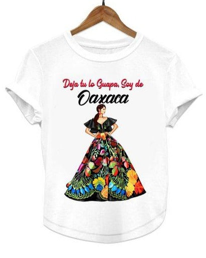 Mexican Women's Graphic Tee Floral Oaxaca T-Shirt - The Little Pueblo