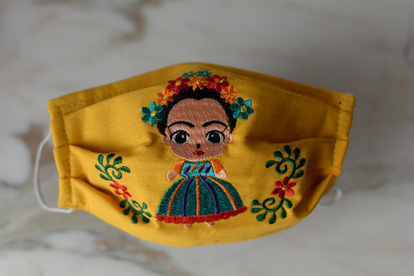 Frida Kahlo Face Mask - The Little Pueblo