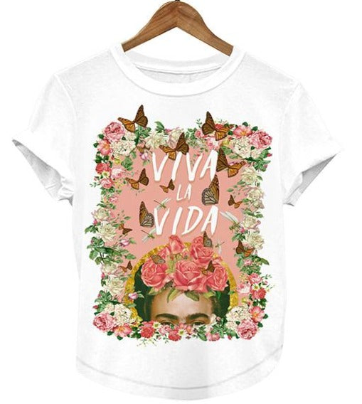 Frida Kahlo Viva La Vida T-Shirt Women's Graphic Tee - The Little Pueblo