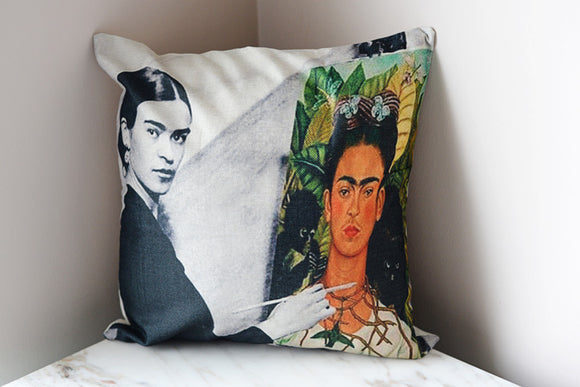 Frida Kahlo Pillow Cover - The Little Pueblo