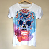 Sugar Skull Graphic Tee Mexican T-Shirt New Size M, L, XL - The Little Pueblo