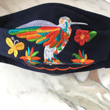 Hummingbird Embroidered Face Mask - The Little Pueblo