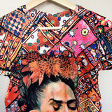Frida Kahlo Geometric Graphic Tee Floral Mexican T-Shirt New - The Little Pueblo