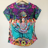 Frida Kahlo Graphic Tee Floral Mexican T-Shirt - The Little Pueblo
