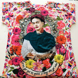 Frida Kahlo Graphic Tee Floral Otomi Mexican T-Shirt - The Little Pueblo