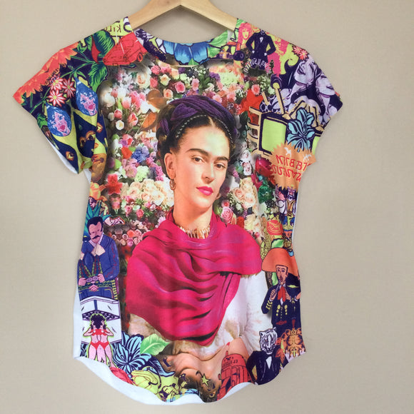 NEW Frida Kahlo  Floral Graphic Tee - The Little Pueblo
