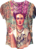 Frida Kahlo Graphic Tee Mexican T-Shirt Daft Punk - The Little Pueblo