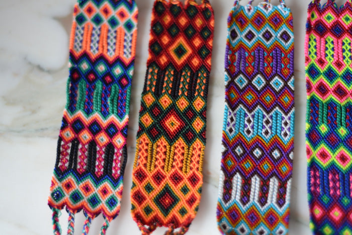 eef0984ed4a8e Embroidered Woven Mexican Friendship Bracelets - Small– The Little ...