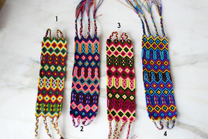 Embroidered Mexican Woven Friendship Bracelets Hippie Boho - Medium - The Little Pueblo