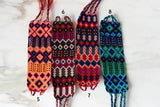 Embroidered Mexican Woven Friendship Bracelets - Medium - The Little Pueblo