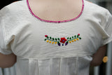 Traditional Mexican Embroidered Floral Shirt from Oaxaca Mexico - The Little Pueblo