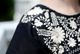 Traditional Mexican Embroidered Shirt Floral - The Little Pueblo