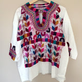 Mexican Embroidered Blouse Handmade from Chiapas - The Little Pueblo