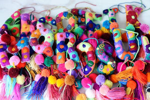 Letters - Mexican Letter Embroidered Ornaments handmade in Chiapas Mexico - The Little Pueblo