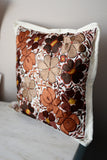 "Pillow Case Mexican Oaxaca Handmade Floral Embroidered Decorative Pillow Case 19""x19"" - The Little Pueblo"