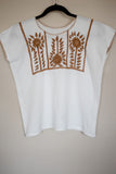 Traditional White Embroidered Mexican Blouse - The Little Pueblo
