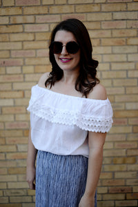 Shirt - Off the Shoulder Handmade Mexican Crochet Top - The Little Pueblo