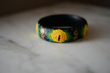 Handmade Painted Bangle Bracelet - Mexican Folk Art - The Little Pueblo