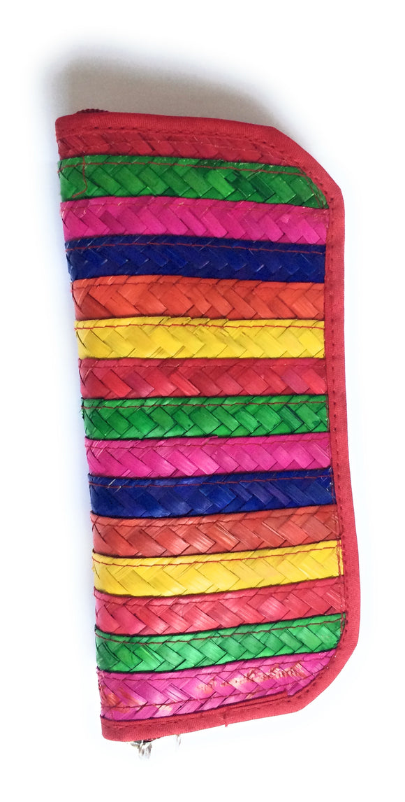 Mexican Woven Palm Leaf Coin Wallet Multi-Color - The Little Pueblo