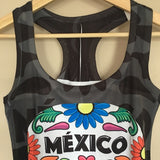 Halloween Sugar Skull Day of the Dead Tank Top  Dia De Los Muertos - The Little Pueblo
