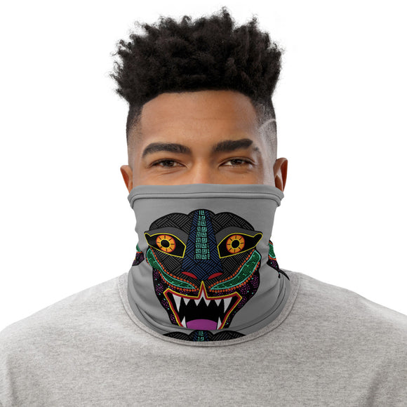 Jaguar Head Alebrije Neck Gaiter Unisex Face Mask Sunshield Bandana Scarf - The Little Pueblo