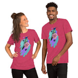 Unisex Short-Sleeve T-Shirt Hummingbird Colorful - The Little Pueblo