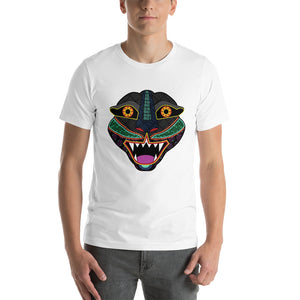 Short-Sleeve Unisex T-Shirt Jaguar Head Mexican Alebrije - The Little Pueblo