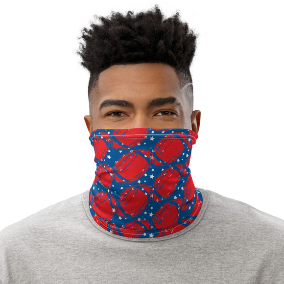 Football Neck Gaiter Face Mask Balaclava Blue & Red Unisex - The Little Pueblo