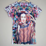 Frida Kahlo Floral Skull Graphic Tee Mexican T-Shirt - The Little Pueblo