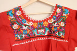 Traditional Mexican Embroidered Shirt Colorful - The Little Pueblo