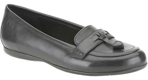 20282b74613e Clarks DANCE SKIP Girls School Shoes Black Leather Loafers Flats Various  Sizes